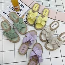 Туфли женские с бантом повседневные дизайнерские фиолетовые