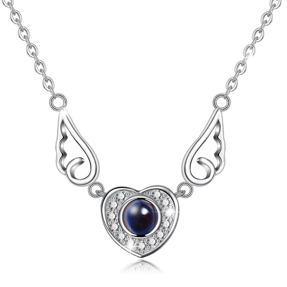 dainty cute Ladies 925 Sterling Silver Angel Wings Pretty Ring Girlfriend gift
