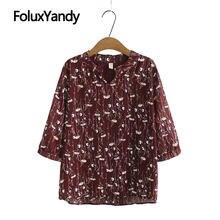 Женская шифоновая блузка с коротким рукавом и v образным вырезом