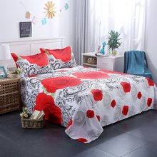 3D Bedding Set Bedding Sheets Set Red Rose Printed Bedding Bedspread Bedclothes Queen King 3pcs (NO Comforters NO Pillow inner)(China)