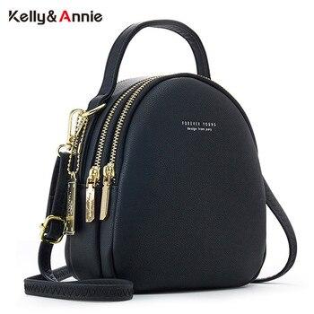 Женские рюкзаки из мягкой кожи с тремя отделениями