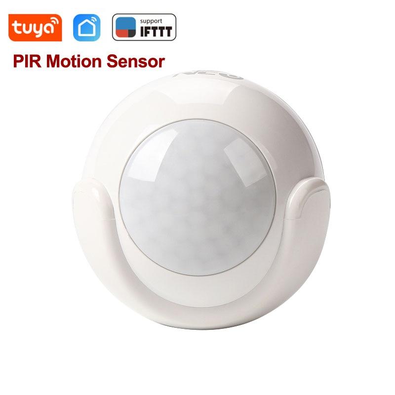 Tuya Smart Life WiFi czujnik ruchu na podczerwień PIR czujnik alarmowy bezprzewodowy Super Mini kształt PIR czujnik system alarmowy w domu