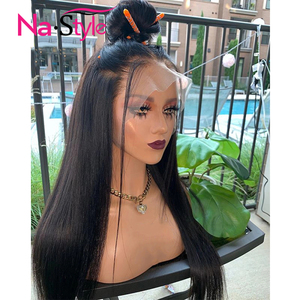 Image 5 - 13x4 Lace Front Human Hair Wigs For Black Women 250% Long Straight Human Hair Wig Pre Plucked With Baby Hair Natural Hairline