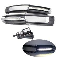 цена на YTCLIN LED Daytime Running Light for Audi A6L A6 C6 2009-2011 Front Light Day Light DRL Light Fog Lamp Cover