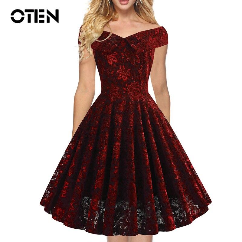 oten Vestido de Fiesta de Rockabilly del Estampado del cr/áneo del az/úcar Floral de la Navidad de la Navidad Mujeres