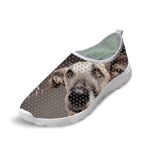Sport shoes 3D Greyhound dog pattern print sapatilhas mulher Mesh running shoes calzado mujer 2019 casual female fashion flats