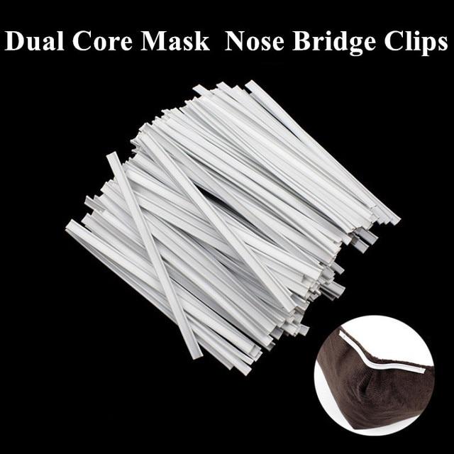 100pcs Dual Core Dedicated Nose Bridge Clips Disposable Face Mask Elastic Cord Adjustable Strap Elastic Mouth Mask Rubber Band 5