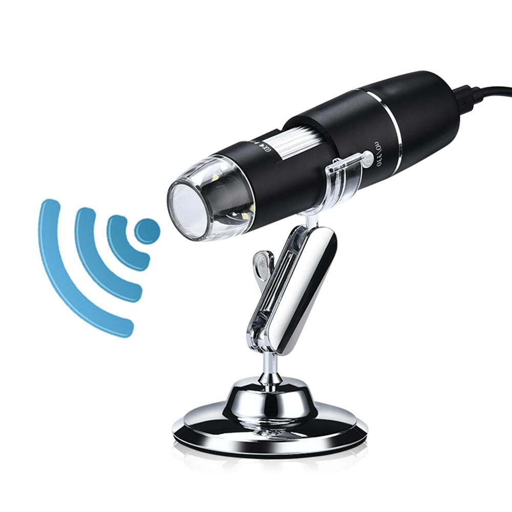 1000X Wifi Microscope numérique loupe caméra pour Android ios iPhone iPad électronique USB Endoscope caméra 8 LED avec support