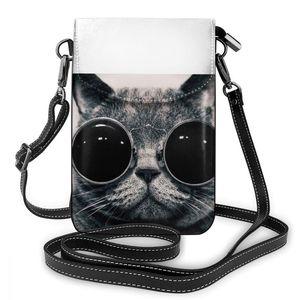 Image 5 - עם חתול כתף תיק עם חתול עור תיק נשים דפוס נשים שקיות מגמת Shopper ארנק קטן באיכות גבוהה