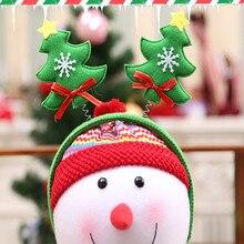 Горячая 1 шт. Рождественская повязка на голову Рождественская шапка Санты повязка на голову застежка головной убор наголовный обруч ободок для вечеринки наголовный обруч Рождественский подарок Горячая A30821