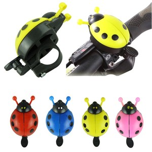Aluminum alloy bicycle bell ring lovely kid beetle mini cartoon ladybug ring bell for cycling bike ride small cute horn alarm #(China)