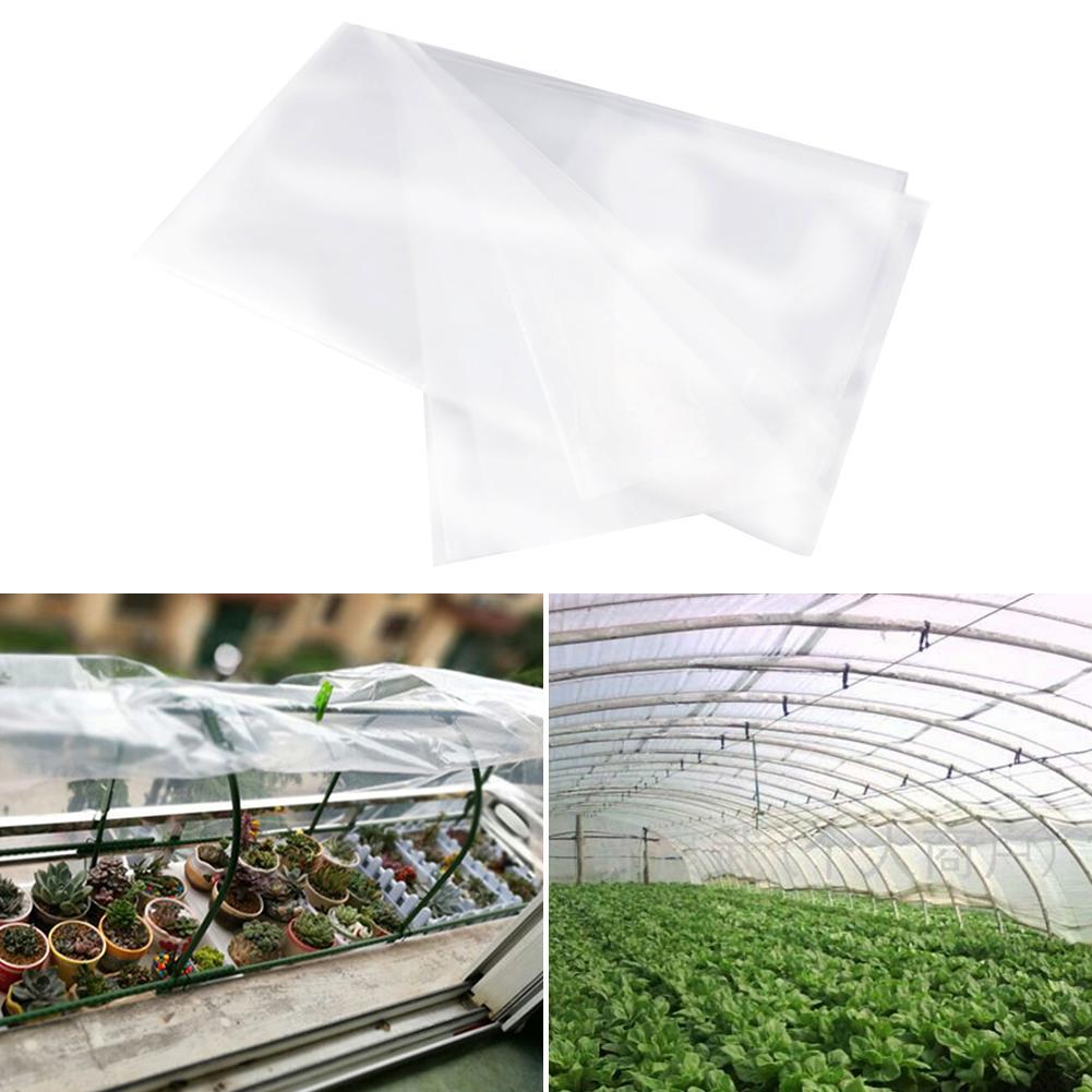 2 16M Plant PE Warm Film Resistant Greenhouse Transparent Plastic Film Dustproof Sealing Antifreeze Film Cover Garden Supplies|Plant Covers| |  - title=