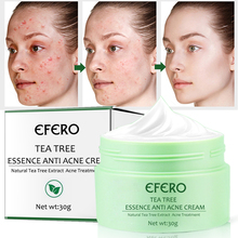 EFERO Acne Treatment Repair Cream Tea Tree Essence Anti Acne Scar Removal Pimple Blackhead Moisturizing Whitening Face Cream