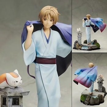 25cm Natsume Yuujinchou Nyanko Sensei Madara Cat & Natsume Takashi figure Anime Action Figure PVC New Collection figures toys