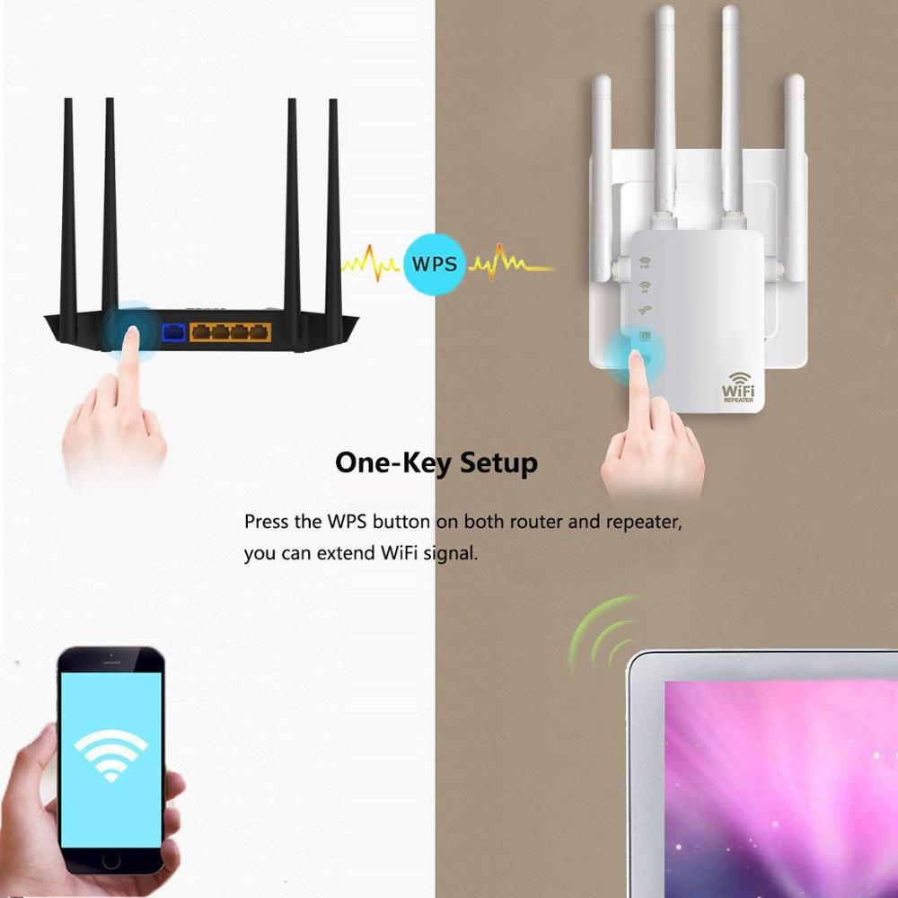 5G Wireless-N Range Extender 300//1200Mbps Dual Band Wifi Repeater Router 2.4G
