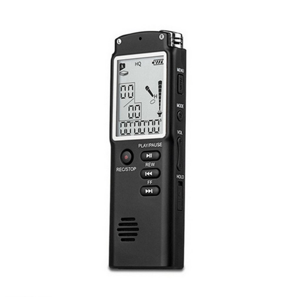 16GB Mini T60 Professional Voice Recording Device Time Display Large Screen Digital Voice Audio Recorder Dictaphone MP3 Player