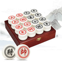 Chinese Chess Wooden Box 32Pcs/Set Old Game of Go Xiang Qi International Checkers Folding Toy Gifts No Magnetic BSTFAMLY C099