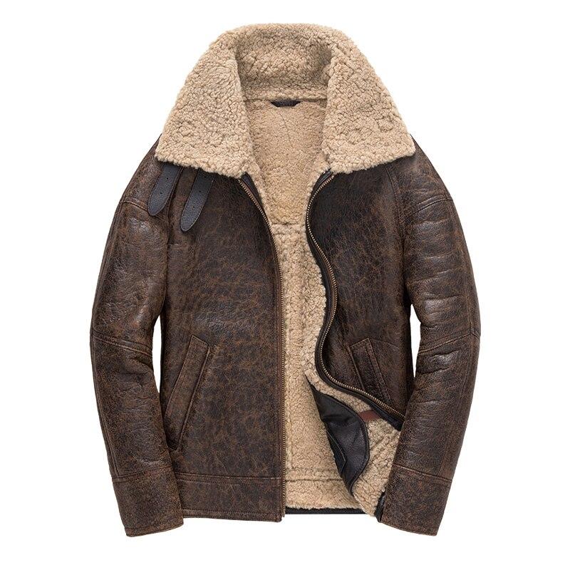Free shipping Winter thick Genuine Sheepskin coat B3 Wool Shearling warm fur jacket mens plus size Free shipping,Winter thick Genuine Sheepskin coat,B3 Wool Shearling,warm fur jacket,mens plus size genuine leather jackets.