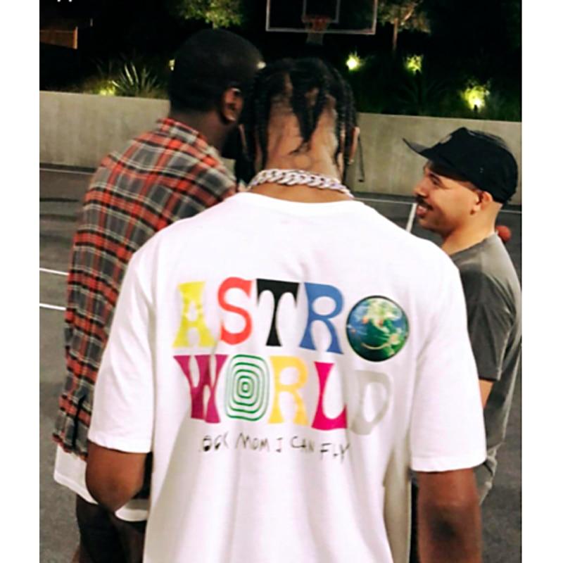 2020 New Fashion Hip Hop T Shirt Men Women Travis Scotts ASTROWORLD Harajuku T-Shirts WISH YOU WERE HERE Letter Print Tees Tops