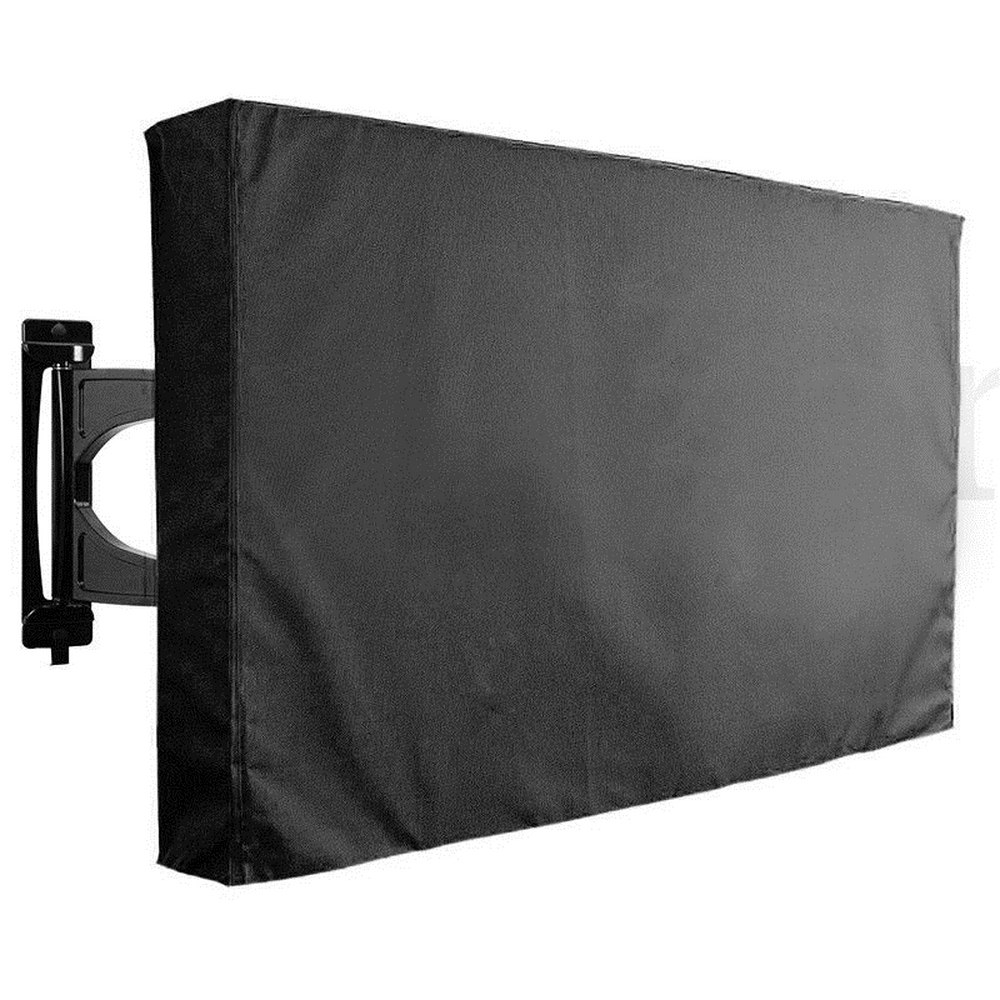 <font><b>Outdoor</b></font> <font><b>TV</b></font> <font><b>cover</b></font> dustproof and waterproof Screen <font><b>Cover</b></font> 22'' To 65'' Inch Durable Oxford Black Television Case Air Conditioning image