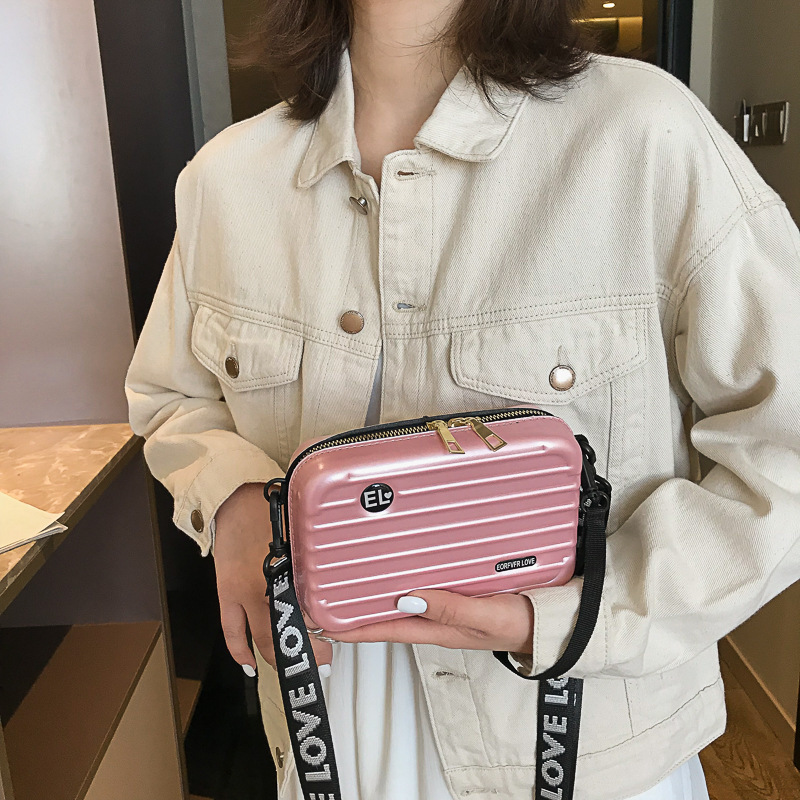 Personality Box Bag Girl 2019 New Net Red Packet Texture Sling Shoulder Bag Clutch Mini Square Bag Mini Suitcase Hand Bags