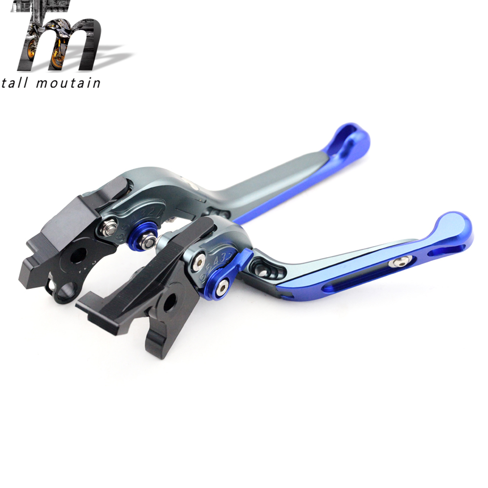 Brake Clutch Lever For BMW K1200GT K1200LT K1200RS R1100S R900RT R850RT Titanium Blue Motorcycle Accessories Folding Extendable image