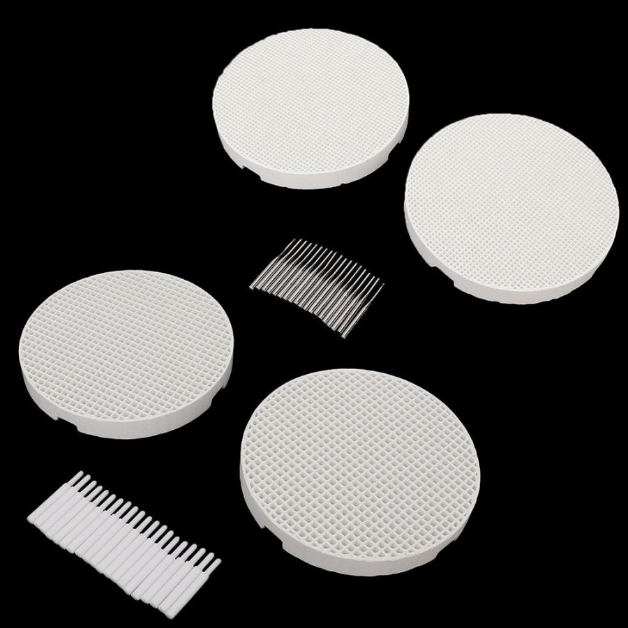 2pcs Round Firing Trays with 20pcs Pins for Dental Lab Equipment Technician Supplies Ceramic Pin or Metal Pin Set