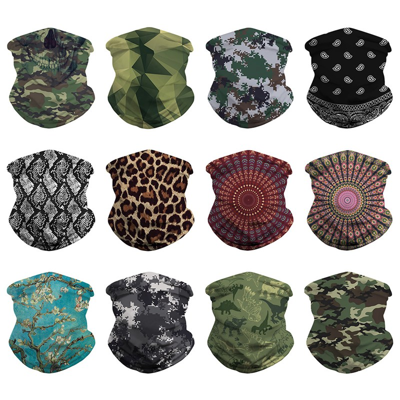 Outdoor Windproof Cycling Scarf UV Protection Face Masks Outdoor Climbing Hiking Skiing Fishing Headwear Bandana Neck Scarves