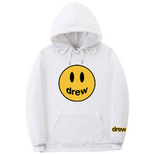 Justin bieber fashion hoodie man painted house smile face print woman man hoodie sweatshirt hip hop winter wool pullover graphic smile face embroidered sweatshirt