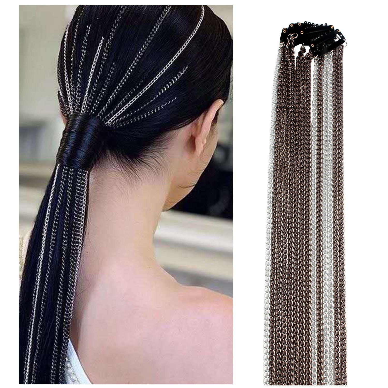 2020 Fashion Hair Chain Hair Clips Tassel Hair Jewelry Accessories Geometric Long Aluminum Chains For Women Creative Headdress
