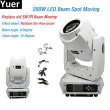 DJ Disco Led-Beam-Spot Moving-Head 2-Gobo Wheels Party-Light Channels White 1-Color 200W