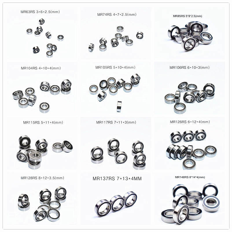 Bearing Miniature MR74 MR63 MR85 MR95-105-106-115-117-126-128-137-148 Rubber-Seal MIX