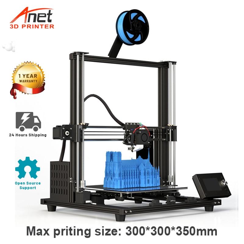 Набор для сборки 3D-принтера Anet A8 Plus A8, высокоточный Настольный металлический 3D-принтер «сделай сам» с поддержкой термополиуретана, пла-базы ...