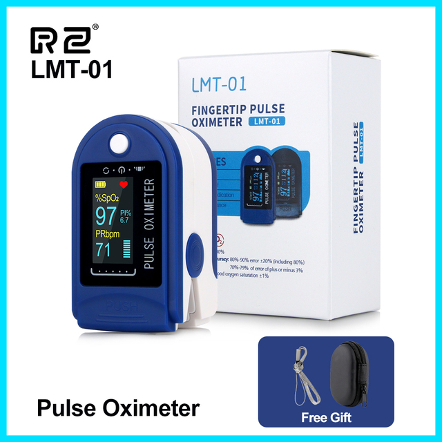 RZ الإصبع نبض مقياس التأكسج أوكسيمترو الدم الأكسجين التشبع متر إصبع SPO2 PR رصد نبض مقياس التأكسج