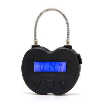 الذكية قفل الوقت شاشة الكريستال السائل قفل الوقت متعددة الوظائف السفر ميقاتي الكتروني ، مقاوم للماء USB قابلة للشحن الموقت المؤقت قفل-في قفل كهربائي من الأمن والحماية على