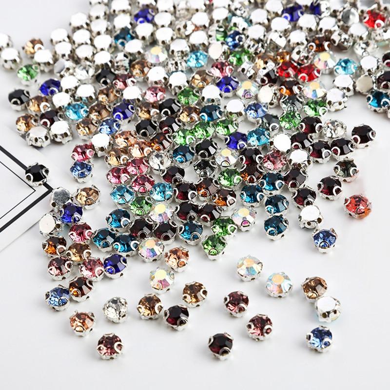 SS6 2mm 10 m/ètres clair 5 tailles cristal clair strass belle 3 couleurs coudre sur de la colle sur en plastique strass cha/îne cha/îne appliques chaussures bricolage coupe