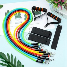 11PCS/Set Fitness Equipment Home Resistance Bands For Women Men Sport Yoga Gym W