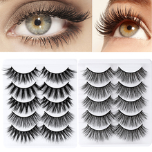 Extension-Tools Makeup False-Eyelashes Wimpers Mink-Hair Beauty Natural 7-Styles 6D 5pairs