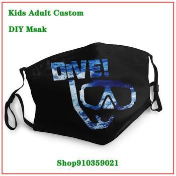 Latest design Fashion masque tissus lavable Scuba Diving Dive masque reutilisable enfant kids men women children face mask