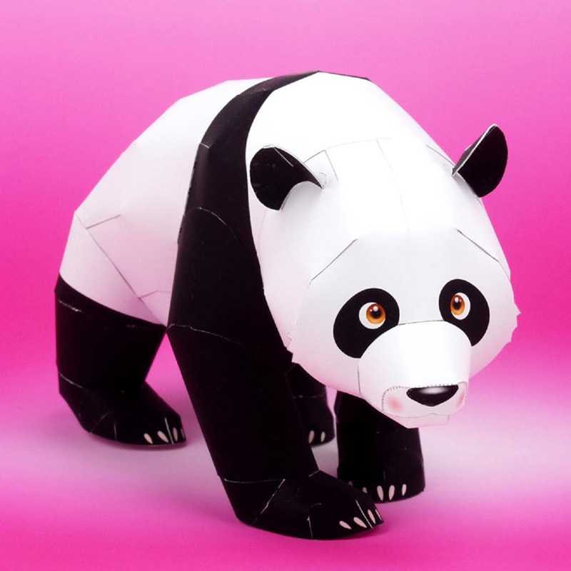 Giant Panda Folding Cutting Mini Cute 3D Paper Model Papercraft Pet Animal Figure DIY Kids Adult Handmade Craft Toys QD-065