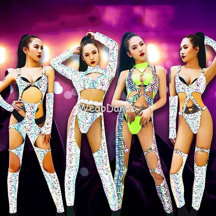 Gogo Costume Sexy Female Lead Dancer Clothing Bar Dj Cool Luminous Female Costume Night Games Ds Costumes New Nightclub