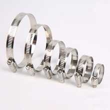 5pcs/Lot All Size Stainless Steel 304 Worm Drive High Qulity Hose Clamp - Fuel Pipe Tube Clips Water