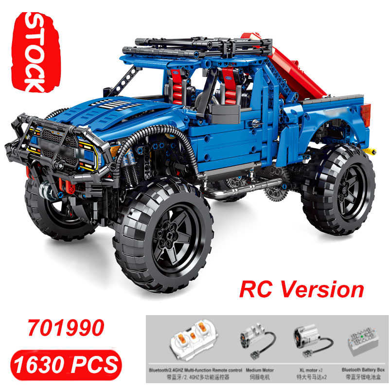 Diarungi Mustanged Truk Lepining 75875 F-150 Blok Creator Teknik Juara Kecepatan Mobil RC Lepinblocks Hadiah Mainan Sembo Raptor