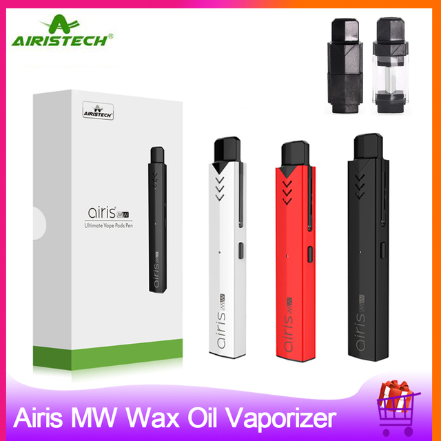 Original Airistech Airis MW Wax Oil Vaporizer Kit 2 in 1 Vape Pen Pod System E cigarette Kit Airis MW Vaporizer for Oil Wax