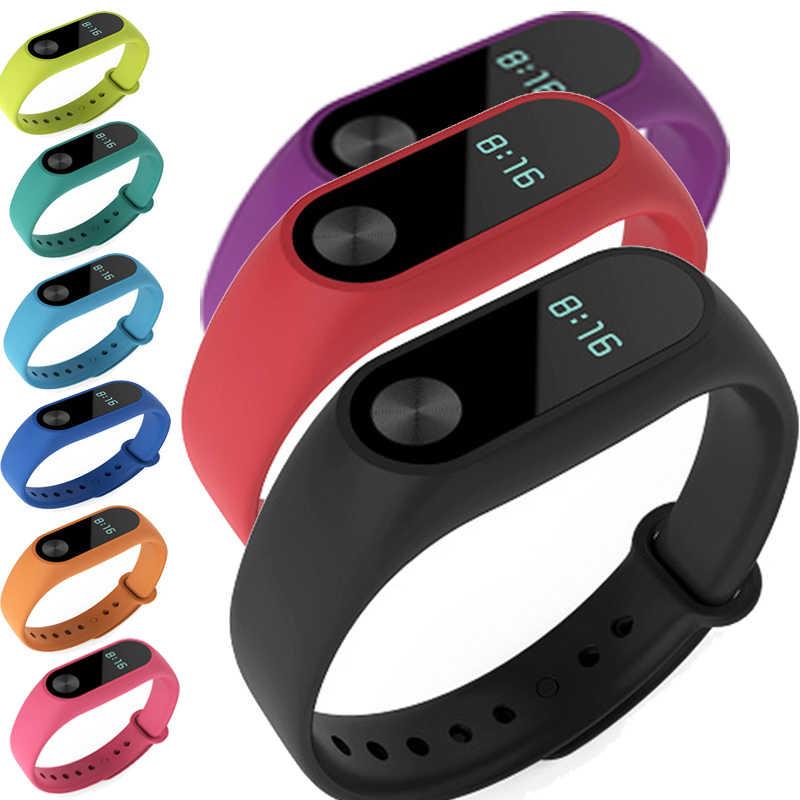 Para xiaomi mi banda 2 pulseira pulseira relógio inteligente substituição cinta cinto silicone pulseira para xiaomi acessórios inteligentes