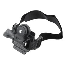цена на Adjustable Head Vented Helmet Strap Mount for Mobius ActionCam Sports Camera Video DV DVR Bike Helmet Mount Bicycle Holder new
