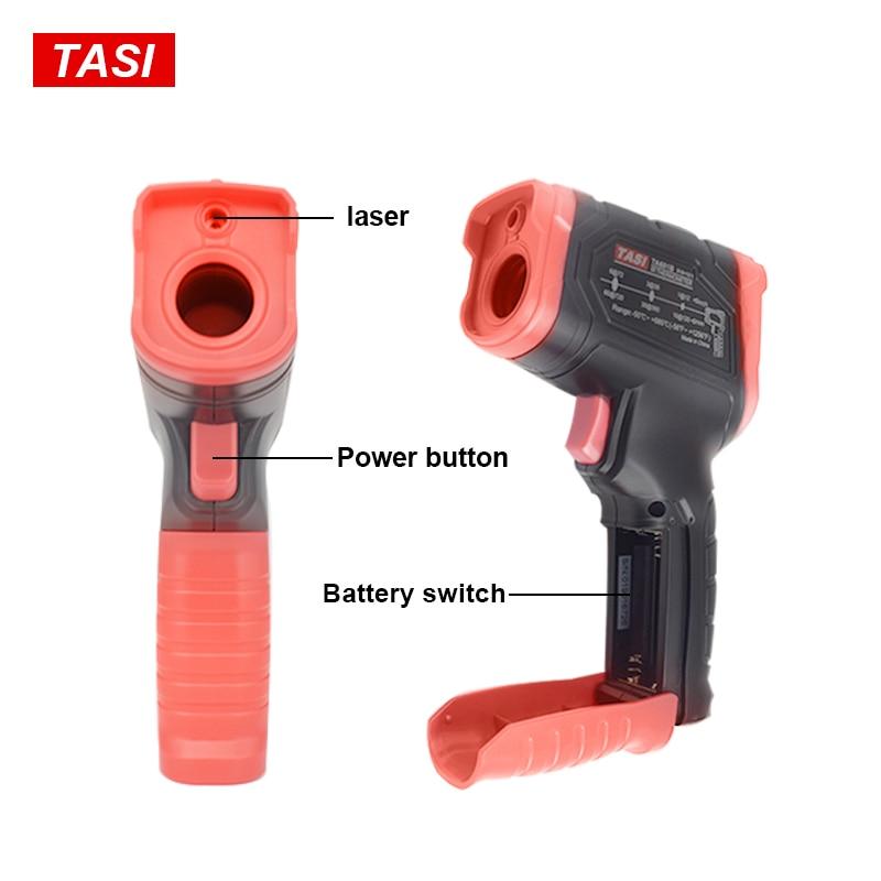 Image 5 - TASI 880 градусов Цельсия цветной дисплей высокая температура  инфракрасный лазерный термометрПриборы для измерения температуры   -