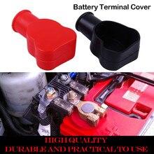 1 пара ПВХ автомобильный аккумулятор отрицательный положительный конец крышка корабль изоляционный протектор крышка батареи красный/черный аккумулятор