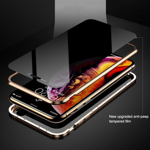 Image 3 - 360 pełne etui ochronne na telefon iPhone 7 8 plus Xs Max etui na magnes adsorpcja na iPhone 6 6s plus XR etui na szkło