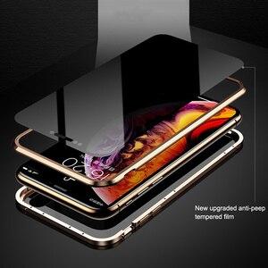 Image 3 - Adsorbimento magnetico Cassa Del Telefono Del Metallo Per il iPhone 6 6s 8 7 Plus X Double Sided Glass Magnet Cover Per iPhone X XS MAX XR Casi